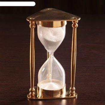 Песочные часы меланта латунь, стекло (5мин) 8х8,5х14,5 см