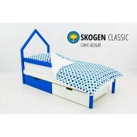 Детская кровать-домик мини svogen сине-белый