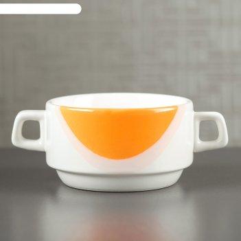 Бульонница 0,35 л, капля оранжевая