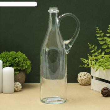 Ваза-бутыль литр с ручкой, 1 л