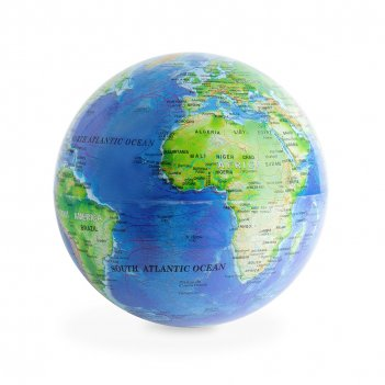 Глобус вращающийся magic 360° синий