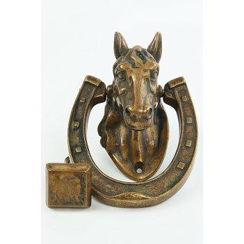 Дверной молоток лошадь, 12х17 см