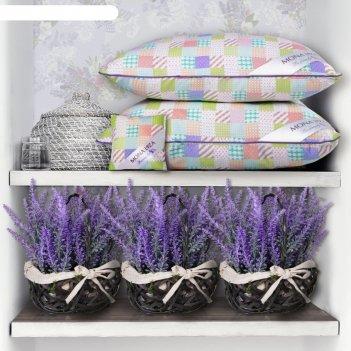 Подушка lavender, размер 50х70 см, +саше с ароматом лаванды, тик