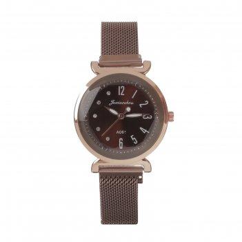 Часы наручные имбау, кварцевые, l=24 см, d=3.5 см, ремешок на магните