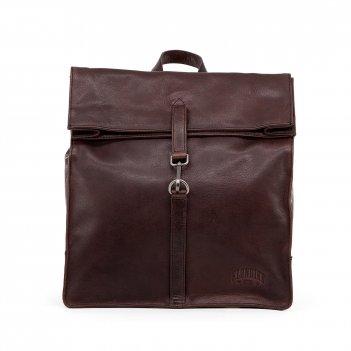 Рюкзак-сумка klondike digger «mara», натуральная кожа в темно-коричневом ц