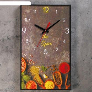 Часы настенные, серия: кухня, специи, 37х61 см