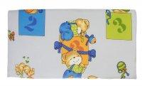 Комплект в кроватку, 2 предмета, голубой, рисунок микс