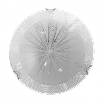 Светильник астра моллир., 1х60вт е27, хром, d=25 см,  h=4,5 см