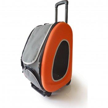 Сумка-тележка складная 3в1 ibbiyaya для собак, до 8 кг (сумка, рюкзак, тел