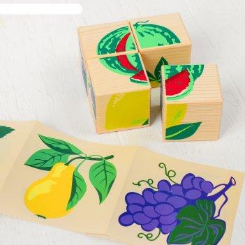 Кубики фрукты-ягоды 4 элемента