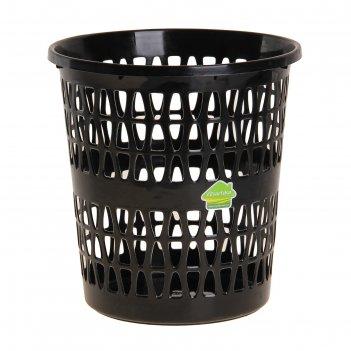 Корзина для мусора феста 11 л, цвет черный
