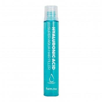 Суперувлажняющий филлер для волос farmstay с гиалуроновой кислотой, 13 мл
