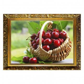 Алмазная мозаика вишневое лакомство  29,5x20,5см, 28 цветов  nr- 12
