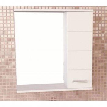 Зеркало-шкаф для ванной модена-75 78,6 х 75 х 15,4 см, белое