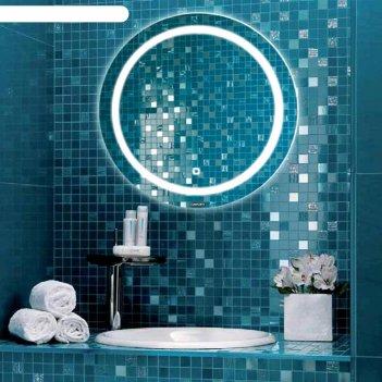 Зеркало comforty «круг-60» d=60 см, светодиодная лента, сенсор
