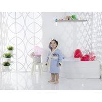 Халат детский с капюшоном snop, 6-7 лет, цвет голубой, махра/велюр