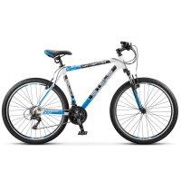 Велосипед 26 stels navigator-600 v, v030, цвет белый/чёрный/синий, размер