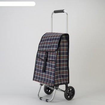 Сумка хозяйственная на колёсах, 1 отдел, 2 наружных кармана, нагрузка до 1