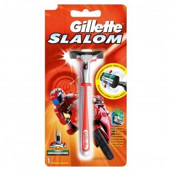 Бритвенный станок gillette slalom, с одной сменной кассетой