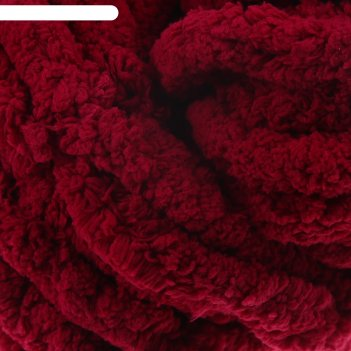 Пряжа фантазийная 100% полиэстер softy plush maxi 250 гр 22 м вишневый