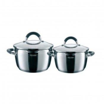 Набор посуды flamme rondell 4 предмета: две кастрюли d=20 см и d=24 см, дв