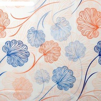 Штора для ванной цветы, 180х180 см, eva
