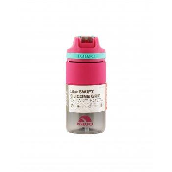 Бутылка-поильник для воды 473 мл igloo swift silicone 16 pink