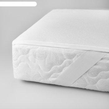 Наматрасник на резинках «беринг», размер 90 x 200 см, цвет белый