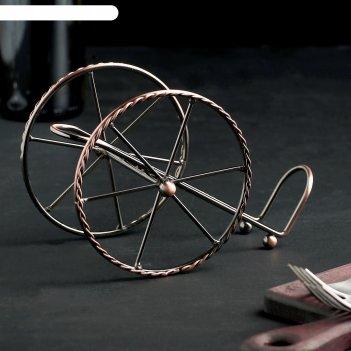 Подставка для бутылки колесница 19х10х12 см