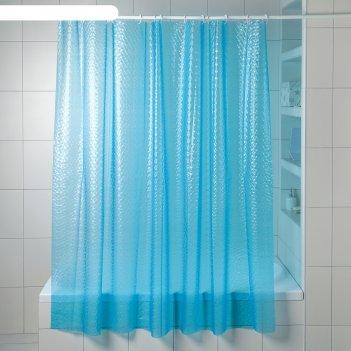 Штора eva для ванной ледяная лилия 180х180см, цвет голубой