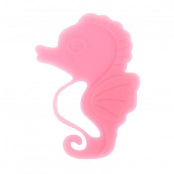 Прорезыватель силиконовый «морской конёк», цвет розовый