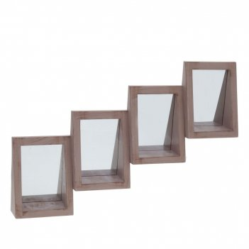 Полка с зеркалом, l60,5 w6,5 h38 см