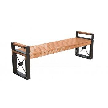 Банкетка стальная «софия» с подлокотниками 2,0 м (3 опоры)