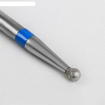 Фреза алмазная для аппаратного маникюра «шар», средняя зернистость, d = 3,