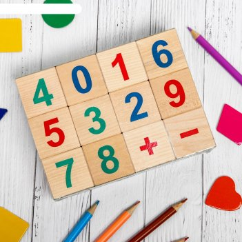 Кубики веселый счет, 12 шт.  и664