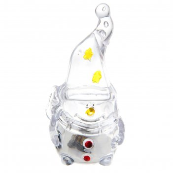 Игрушка световая гномик-снеговик (батарейки в комплекте) 1 led, rgb