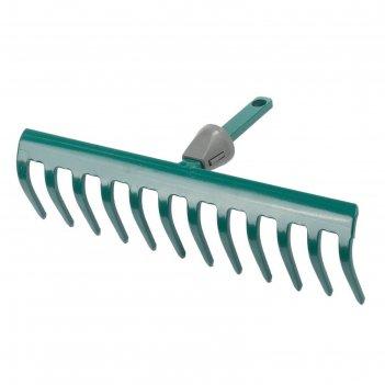 Грабли raco maxi, 12 зубцов, с быстрозажимным механизмом, без черенка