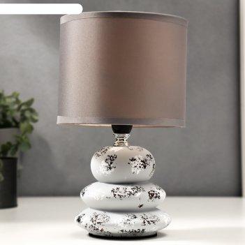 Лампа настольная 16295/1 e14 40вт бело-серый 15х15х26 см