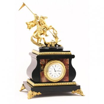 Настольные часы георгий победоносец яшма