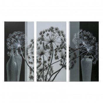 Картина модульная на подрамнике воздушный цветок 99x65 см. (3-33х65)