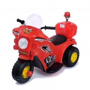 Электромобиль мотоцикл шерифа, цвет красный