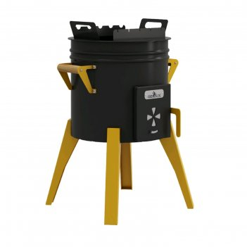 Печь-мангал для казана grillux lux, 46.6х46.8х67.5 см, сталь 2 мм, термокр