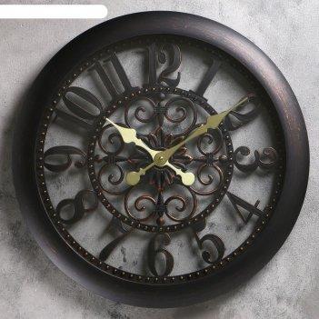 Часы настенные, серия: интерьер, барокко, d=50 см