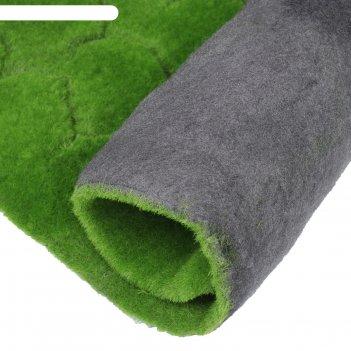 Мох искусственный, декоративный, полотно 1*1 м, рельефный, бугры, зеленый