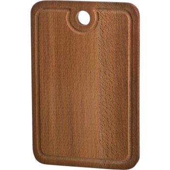Доска разделочная деревянная с желобомбук 30*20*2 ...