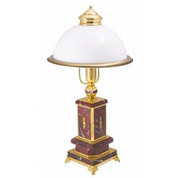 Лампа настольная президент из яшмы златоуст