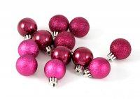 """Набор ёлочных игрушек """"шары"""" из 6шт. 60мм, темно-розовый"""