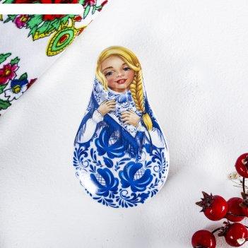 Шкатулка керамическая «русская краса», 5,1 х 8,8 см