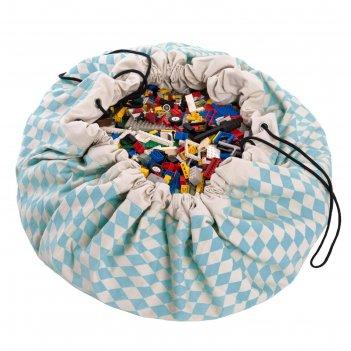 Игровой коврик-мешок для хранения игрушек 2 в 1 play go, коллекция print,