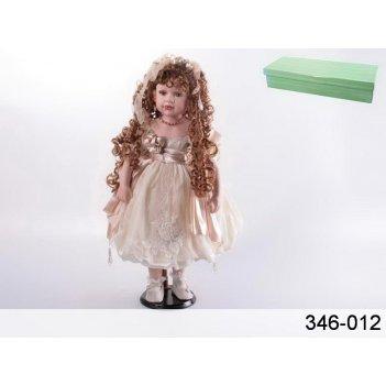 Кукла фарфоровая в кремовом платье высота=55 см (к...